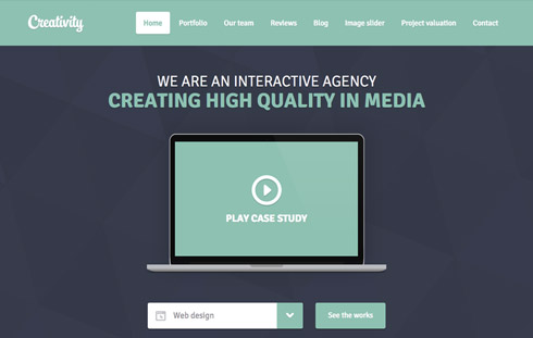 Free Responsive Website Template with Video