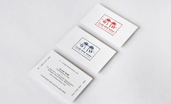 club man shop business card design