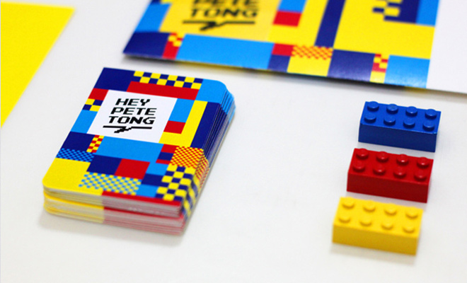 hey pete tong self branding design business cards