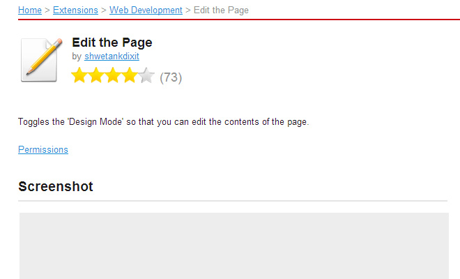 edit html css page opera extension development