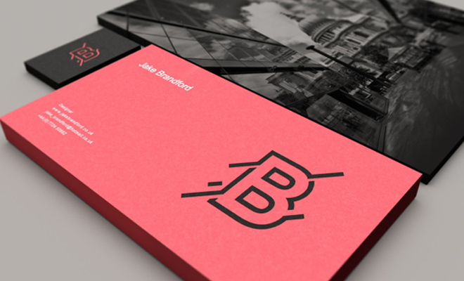 jake brandford personal portfolio design cards