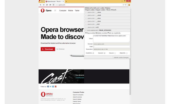 extension opera browser edit website cookies