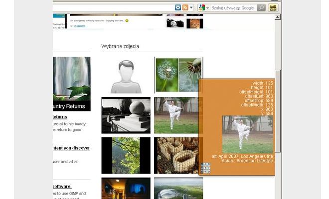image dimension checker preview extension opera
