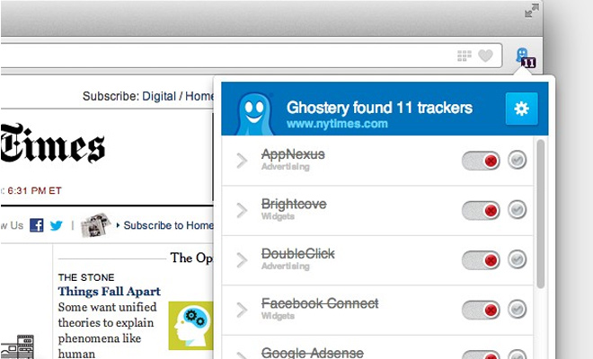 website checker scripts ads ghostery opera extension