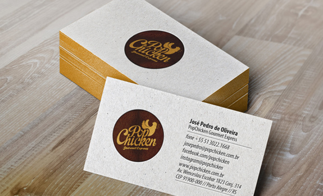 47 strikingly creative examples of business card designs designm popchicken identity gourmet express print identity reheart Images