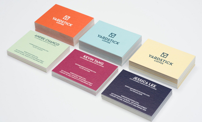 yardstick coffee branding print logo design card