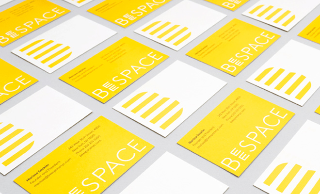 beespace business card flat design inspiration print work