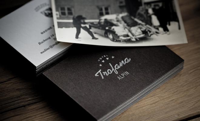 trofana alpin branding gallery inspiration design