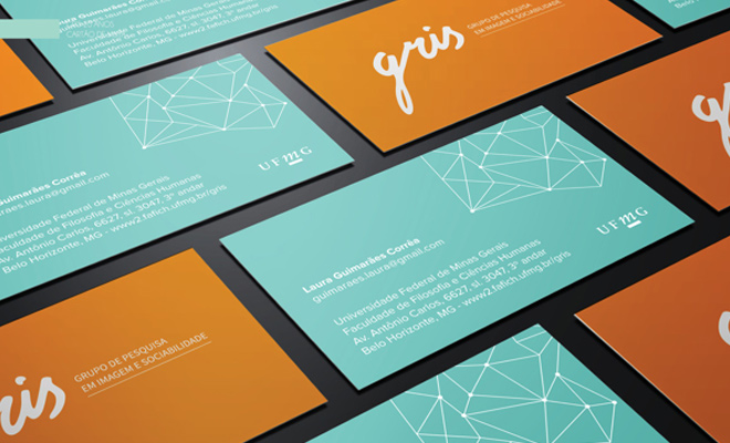gris ufmg business card print design work