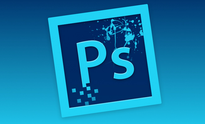 adobe photoshop blue icon app redesign