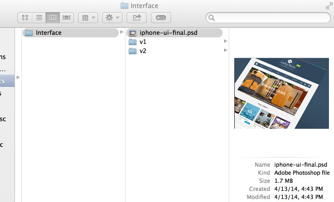 screenshot os x psd file organization