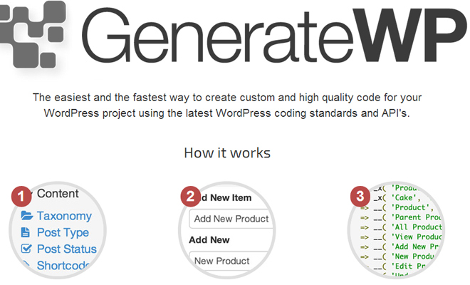 generate wp wordpress code generator