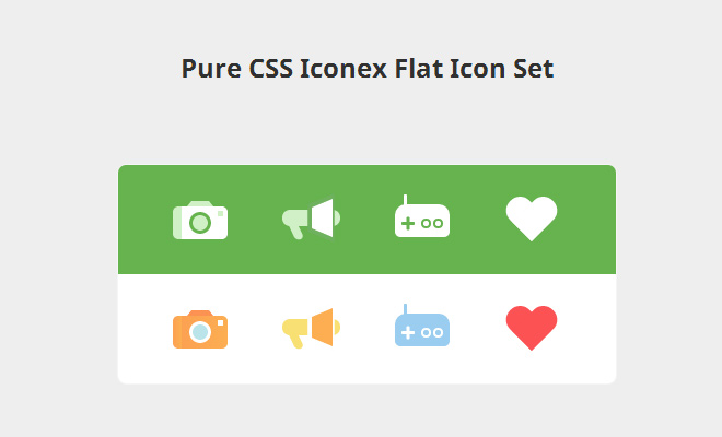 css iconex flat icons design open source