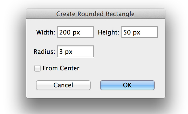 create new rounded rectangle diaglog window
