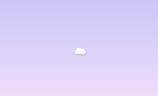 pure css cloud icon design