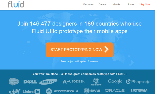 fluid ui website webapp prototyping mockups