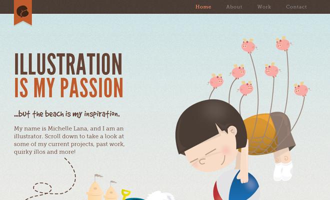 michelle lana illustrator portfolio layout