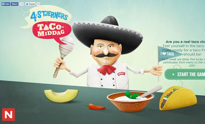 taco spillet tacospillet website vector