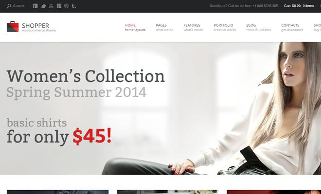 shopper woocommerce wordpress theme inspiration