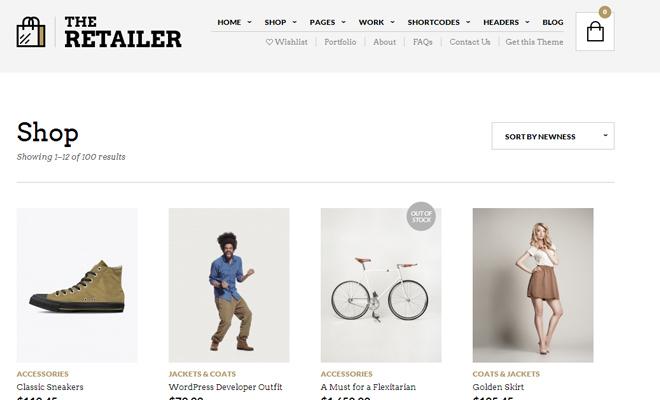 the retailer retina responsive wordpress theme