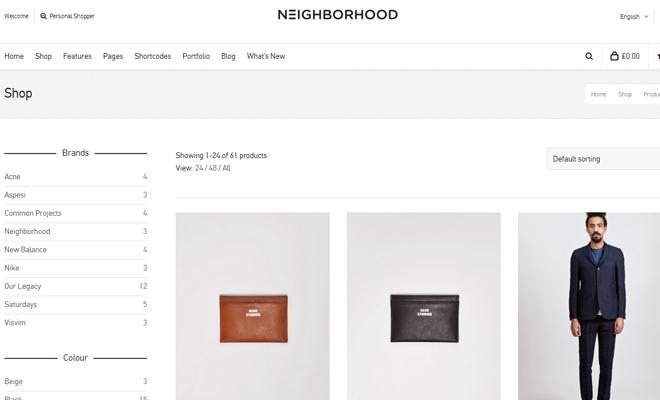 the neighborhood shop theme wordpress inspiration