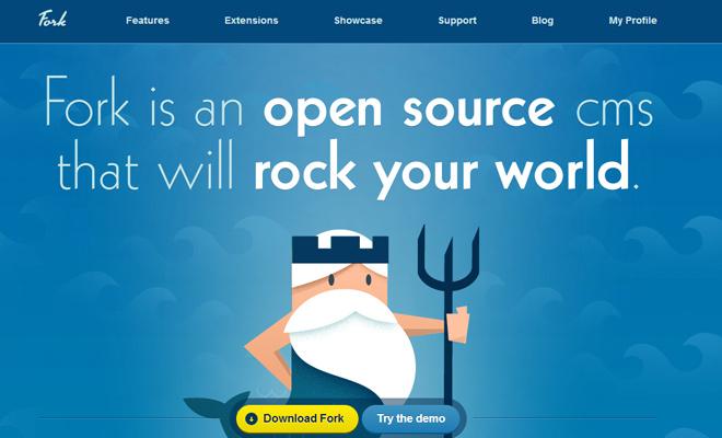 fork cms website vector king triton