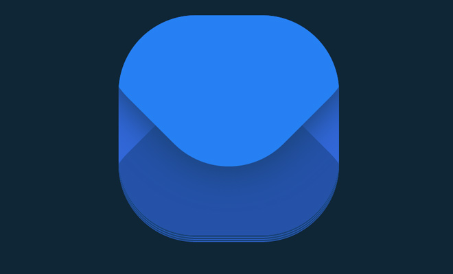 blue mail envelope icon css only