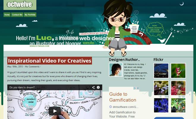 octwelve website vector web design layout inspiration