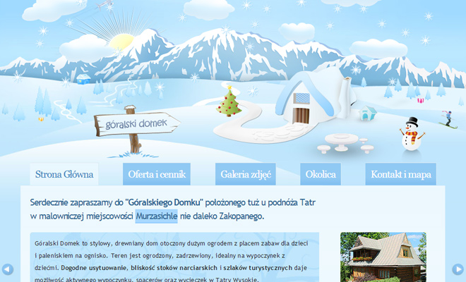 goralskiego domku vector website layout inspiration