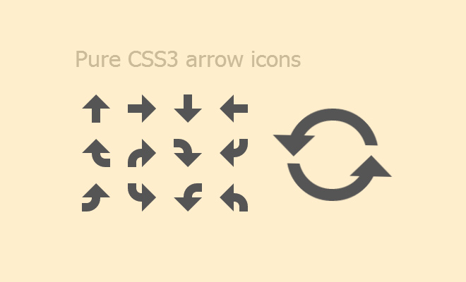 pure css3 arrow icons animated open source