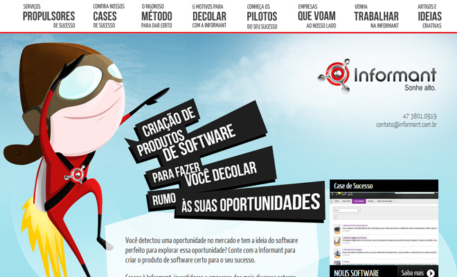 informant portuguese website vector character icon