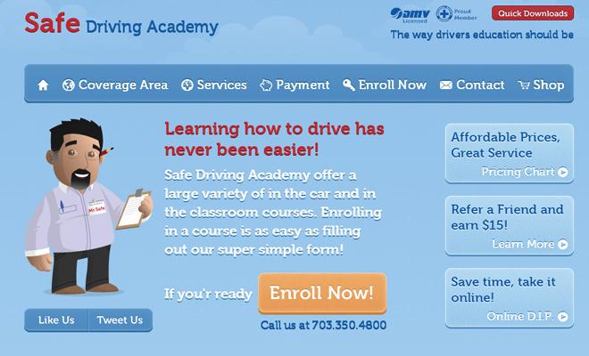 safe driving academy vector artwork website inspiration