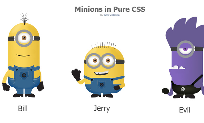 open source css minions icons