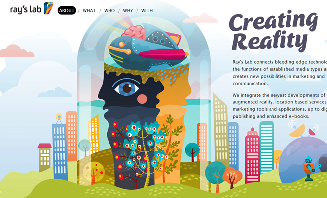 rays lab vector website layout inspiration design