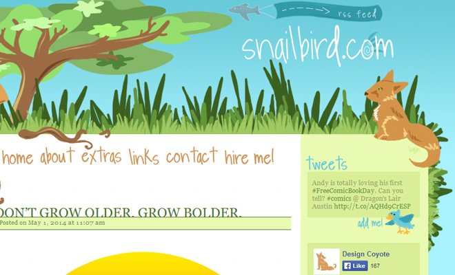 snailbird website vector grass landscape design