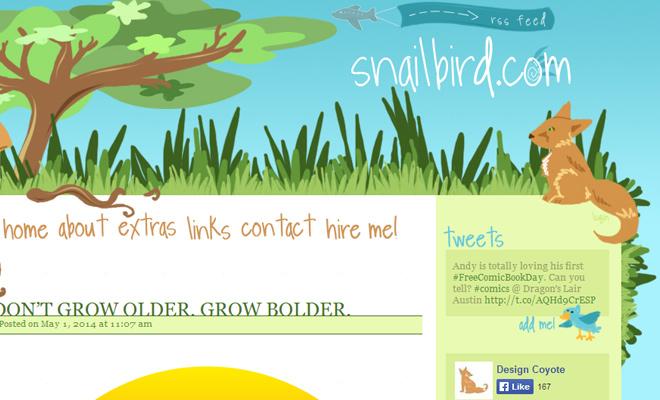 snailbird website vector grass landscape design