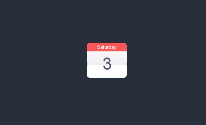 Design Calendar Using Css : Free css only icons for website graphics designm ag