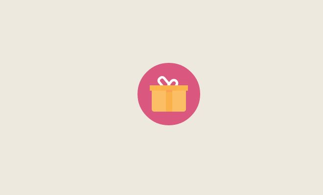 flat gift icon open source freebie