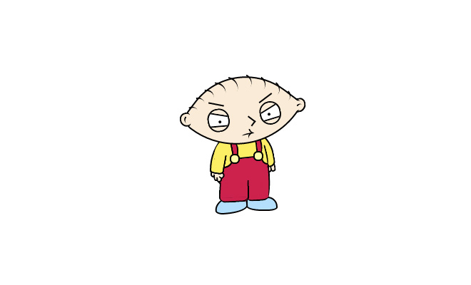 stewie griffin icon pure css