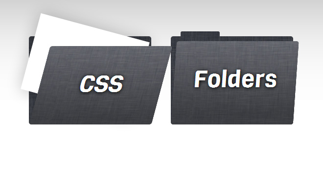pure css folders open source code icon