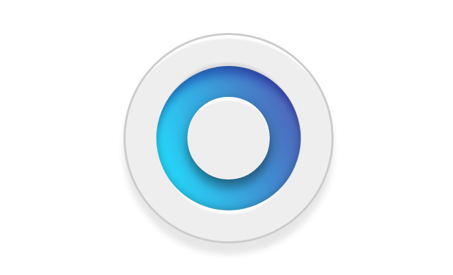 pure blue css circle logo open source