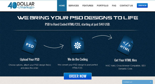 psd to html-40dollarmarkup