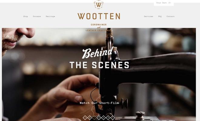 wooten ecommerce website design texture rotator