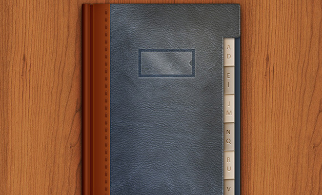 leather texture address book icon photoshop