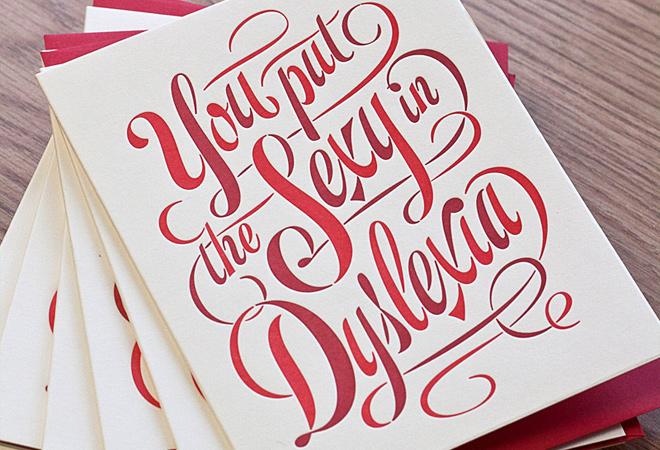 dyslexia sexia script print design