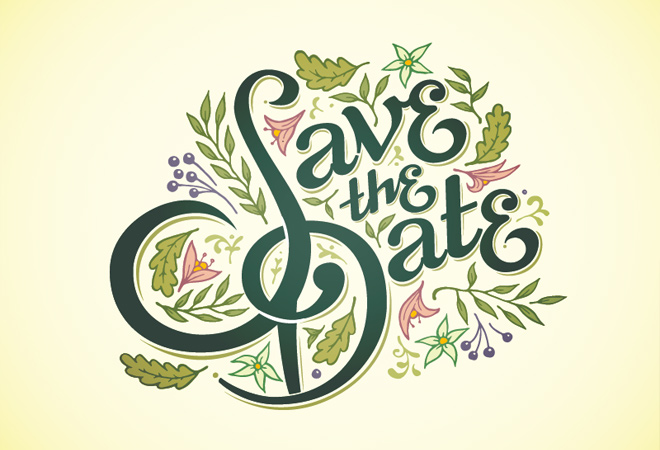 save the date finished lettering writing typography