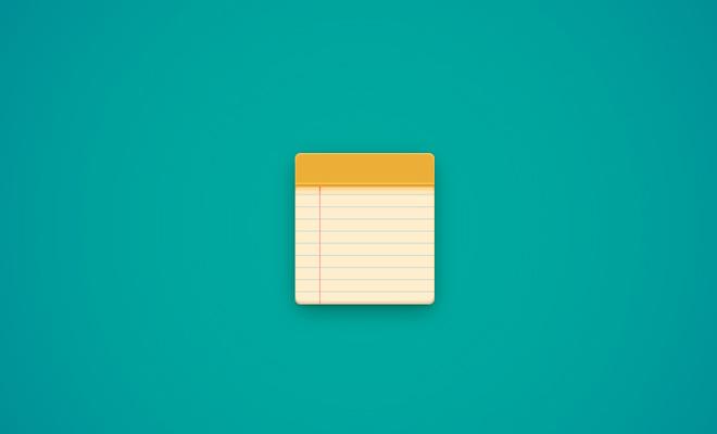 simple vector notepad icon design tutorial