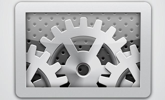 gear ios settings icon design photoshop tutorial