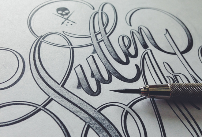 sullen style writing design typography letters