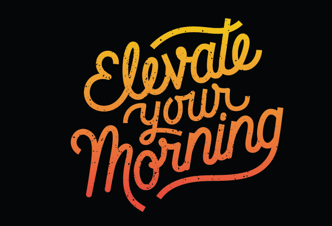 elevate logo draft concept design typography